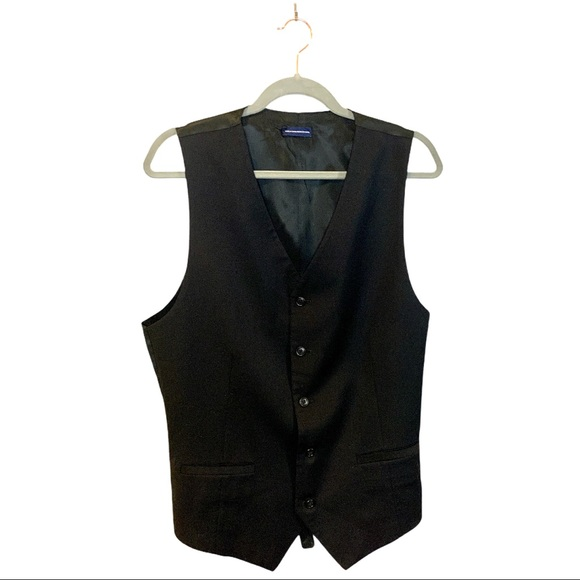 Stafford Performance Men's Black Formal Vest